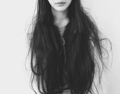 Image result for messy wavy hair long black aesthetic