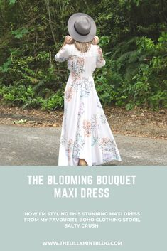 Maxi dresses are so versatile, and I'm sharing how I style this stunning white floral boho maxi. Boho maxi dresses are super versatile to style and many can be worn as a dress or a duster/kimono Pink Maxi, Floral Maxi Dress, Maxi Dresses, Bridesmaid Dresses, Boho Clothing Stores, Looking Gorgeous, Boho Outfits, Dress Making, Kimono