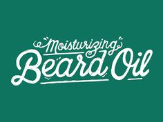 The post Moisturizing Beard OIl Typography appeared first on DICKLEUNG DESIGN GROUP.  Uncategorized