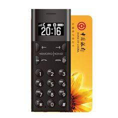 Swordhond P101 0.96-inch 260mAh 128MB Bluetooth Long Standby Ultra-thin Mini Card Mobile Phone