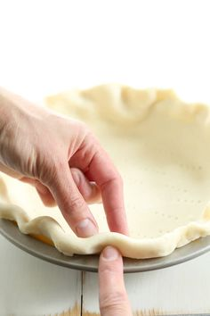 The perfect flaky gluten free pie crust, made with sour cream for extra tenderness. So easy to roll out!