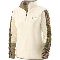 Ladies Highlander Camo Trim ¼ Zip at Legendary Whitetails I REALLY want this!!!!