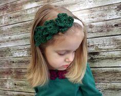 Shamrock Child Headband  St. Patrick's Day by AbigailsAttic112