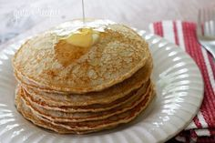 I MADE THESE PANCAKES FOR BREAKFAST THIS MORNING AND THEY WERE REALLY GOOD (EVEN WITHOUT THE SUGAR).  WILL DEFINITELY MAKE AGAIN.