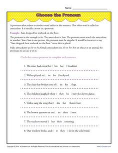 Sentence diagramming worksheets subject complements sentence choose the pronoun ccuart Gallery