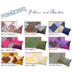 Patchwork Pillows and Throw Blankets by Cori-Beth's Unique Boutique on Zazzle featuring interior, interiors, interior design, home, home decor and interior decorating