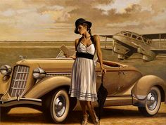 Peregrine Heathcote is an British painter*, known for working in contemporary academic realism style. Heathcote was born in London. For biographical notes -in english and italian- and other works by Heathcote see Peregrine Heathcote, 1973 Art Deco Posters, Vintage Posters, Pinup, Florence Academy Of Art, Edward Hopper, Peregrine, London Art, Aviation Art, Retro Art