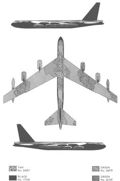 B 52 Stratofortress, Color Profile, Paint Schemes, Southeast Asia, Scale Models, Aircraft, Monogram, Military, Painting