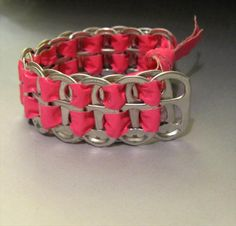 upcycled soda can tabs duct tape bracelet