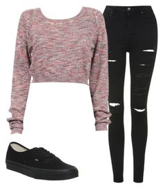"""""""Untitled #111"""" by dude-iloveyouxo ❤ liked on Polyvore featuring Topshop and Vans"""