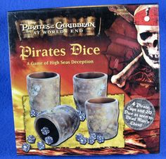 Pirates Of The Caribbean At World's End Pirates Dice Game Disney 2007 #FriendlyGames