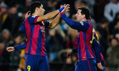 PETE JENSON AT THE NOU CAMP: Barcelona have one foot in the Spanish Cup final after beating Villarreal 3-1 at the Camp Nou on Wednesday night.