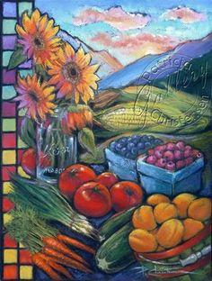 """Ogden Farmers Market Sunrise"" - by Patricia Christensen - posters available at the Ogden, UT - 2013 Farmers' Market"
