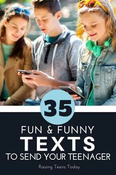 35 Fun (and Funny) Texts to Send Your Teen - Raising Teens Today - Relationships - Humor Raising Teenagers, Parenting Teenagers, Parenting Advice, Funny Parenting, Parenting Quotes, Funny Texts To Send, Kids Sand, Toddler Behavior, Teenage Daughters
