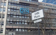 Great logotype at the DIN offices in Berlin. The street signage is in Metric via @design_etc