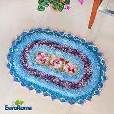 Tapete Violeta em Crochê por Sandra Brum com EuroRoma