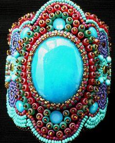 LIKE THE DARK BLUE AND TURQ................Turquoise Cuff www.fariasiddiqui.com