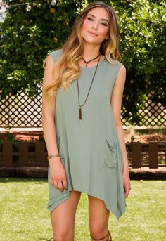 Audie Tunic - Olive – Shop Priceless