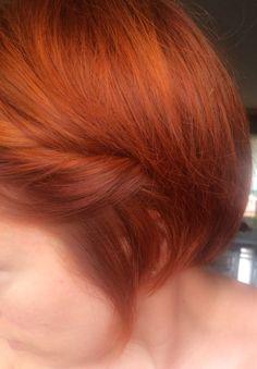 Henna hair, short hair, updo