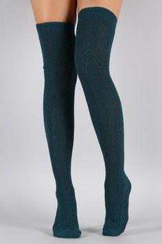 Cozy Knit Thigh High Socks