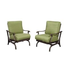 Pembrey Patio Lounge Chair With Moss Cushion (2-pack)