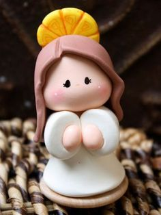 Items similar to Angel Baptism First Communion Party Favor on Etsy Polymer Clay Figures, Fimo Clay, Polymer Clay Projects, Polymer Clay Creations, Polymer Clay Art, Communion Party Favors, Première Communion, First Communion Party, Baking Soda Clay