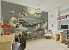 'Ocean Meets Sky' (Wall Mural). Product Code: MM0242M. #wallpaper #wallmurals…