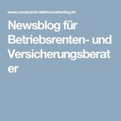 Newsblog für Betriebsrenten- und  Versicherungsberater