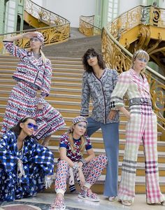 The Chanel girls backstage before the show