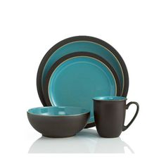 Denby USA -  Duets Brown & Turquoise