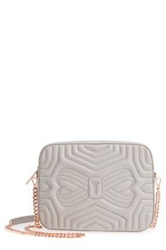 1490bf75ac42 Image of Ted Baker London Quilted Leather Camera Bag
