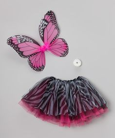 Take a look at this Fuchsia Zebra Reversible Tutu Dress-Up Set - Girls by TutusByUs2 on #zulily today!