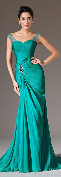 This would be a beautiful bridesmaid dress, or a gorgeous wedding gown in the right color. eDressit 00143304 Beaded Evening Gown
