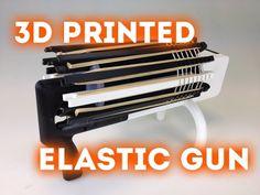 3ders.org - Kirby Downey 3D prints fantastic fully mechanical rubber band gun | 3D Printer News & 3D Printing News