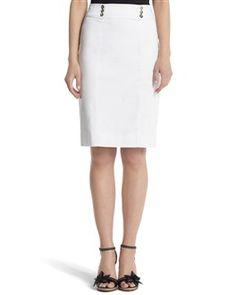 Sateen Pencil Skirt - White House | Black Market
