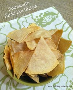 Fun to do with a group! Homemade tortilla chips Homemade Corn Tortillas and Tortilla Chips.