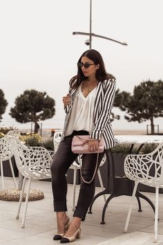 How To Wear A Striped Blazer For Spring - Stella Asteria - Fashion