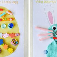 Easter Játék Tészta Mats - ingyen nyomtatható