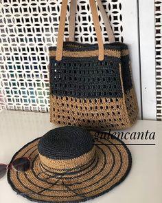Crochet Handbags, Crochet Purses, Crochet Summer Hats, Crochet Hats, Crochet Bag Tutorials, Crochet Placemats, Diy Handbag, Knitted Bags, Sisal