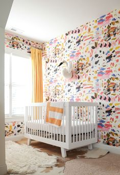 A North Carolina Family Home With a Gorgeous Rainbow Palette Ein Einfamilienhaus in North Carolina m Kids Bedroom Sets, Kids Bedroom Furniture, Bedroom Decor, Glam Bedroom, Bedroom Ideas, Childrens Bedroom, Funky Furniture, Baby Bedroom, White Furniture