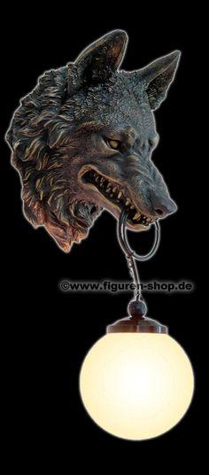 Pinterest: @MagicAndCats ☾ Wolf Head Lamp