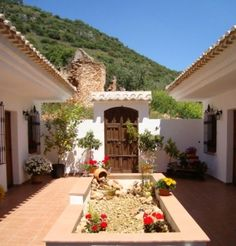 Spanish Door #CourtYard #Landscape #Outdoor ༺༺ ❤ ℭƘ ༻༻