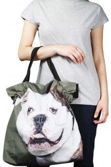 Comprar bolsa-de-nylon-com-estampa-bulldog-ingles-branco-usenatureza