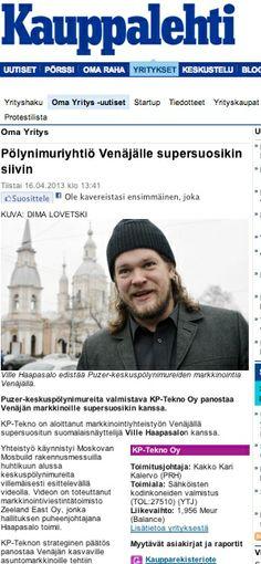 Puzeria viedään Venäjälle Kauppalehti 4/2013