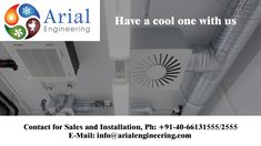 A rapidly growing supplier of world-class #AC units, #Arialengineering offers a complete #HVAC, #VRF Air conditioning system design, Sales, Installation and Services for Residential, Commercial and Industrial Segments with best air conditioning products. Contact for Sales and Installation, Arial Engineering Services Ph: +91-40-66131555/2555