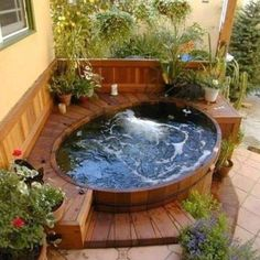 25 Best Backyard Whirlpool Deck Design Ideas To Relax Hot Tub Deck, Hot Tub Backyard, Hot Tub Garden, Garden Gazebo, Small Backyard Pools, Backyard Patio Designs, Backyard Landscaping, Small Garden Jacuzzi, Hot Tub Patio On A Budget