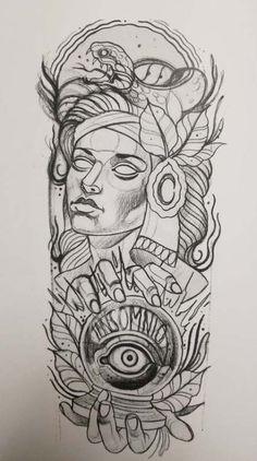 21 trendy ideas for drawing tattoo neo trad Evil Tattoos, Arrow Tattoos, Skull Tattoos, Black Tattoos, Body Art Tattoos, Sleeve Tattoos, Traditional Tattoo Drawings, Traditional Tattoo Design, Neo Tattoo