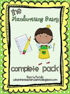 This packet will help motivate your students to have good handwriting!  Did you know the Handwriting Fairy comes into your classroom each night and...