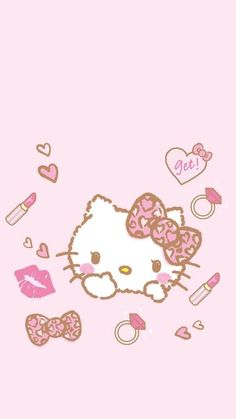 Sanrio Wallpaper, Pink Wallpaper Iphone, Kawaii Wallpaper, Cellphone Wallpaper, Hello Kitty Backgrounds, Hello Kitty Wallpaper, Kids Room Paint, Hello Kitty Pictures, Sanrio Characters