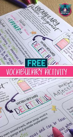 Free differentiated and brain-based vocabulary practice to use with any Tier 2 word list in middle or high school #vocabularyactivity #highschoolenglish